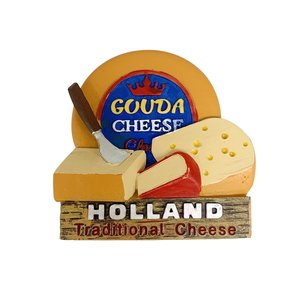 Typisch Hollands Magnet - Traditional Cheese from Holland