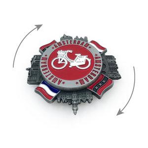 Typisch Hollands Spinner Magneet - Amsterdam & Holland vlaggen
