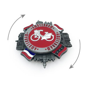 Typisch Hollands Spinner Magnet - Amsterdam & Holland flags
