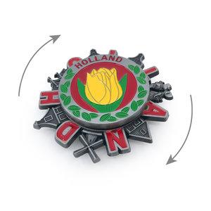 Typisch Hollands Spinner Magnet - Holland - Tulips