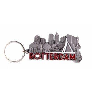 Typisch Hollands Sleutelhanger Rotterdam -skyline