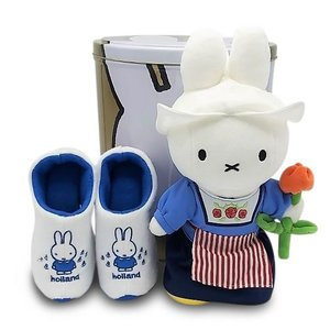 Nijntje (c) XXL - Tin - with Miffy gifts - Cuddly toy and slippers