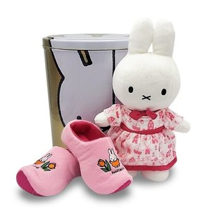 Nijntje (c) XXL - Tin - with Miffy gifts - Cuddly toy and slippers - Pink