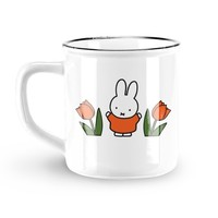 Nijntje (c) Mug Miffy - Retro - Miffy (tulips) - Orange