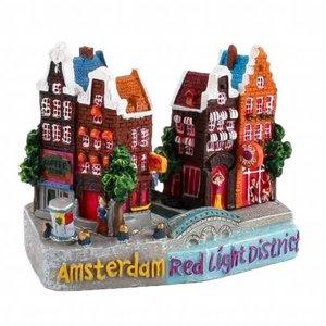 Typisch Hollands Stadstafereel Amsterdam -Red Light District 9cm
