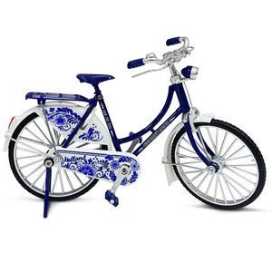 Typisch Hollands Miniature bicycle - 18 cm - Delft blue