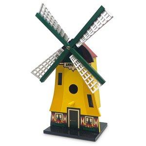 Typisch Hollands Vogelhuis geel -  poldermolen