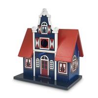 Typisch Hollands Birdhouse blue transverse facade