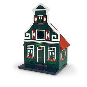 Typisch Hollands Vogelhuis groen Zaans huisje
