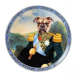 Heinen Delftware Bord Admiraal bulldog Ø 15 cm