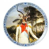 Heinen Delftware Plate Prince Antelope Ø 20 cm
