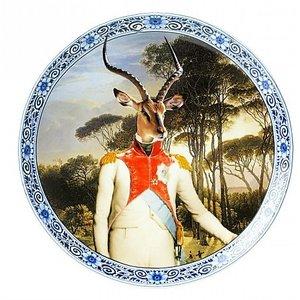 Heinen Delftware Bord Prins Antilope Ø 20 cm