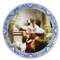 Heinen Delftware Plate Lady Springer Spaniel Ø 26 cm