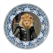 Heinen Delftware Plate King Lion Ø 31.5 cm