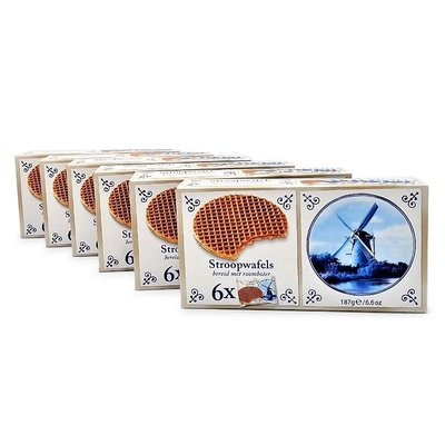 Stroopwafels (Typisch Hollands) 6 boxes Stroopwafels 6x1 Pack 180 grams