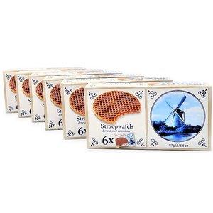 Stroopwafels (Typisch Hollands) 6 doosjes Stroopwafels 6x1 Pack  180 gram