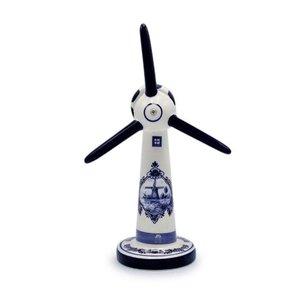 Typisch Hollands Windmolen modern - Delfts blauw - Groot (windturbine)
