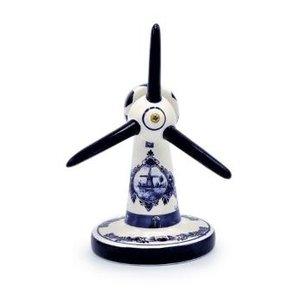 Typisch Hollands Windmolen modern - Delfts blauw - klein  (windturbine)