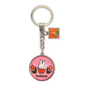 Nijntje (c) Keychain Miffy pink tulips