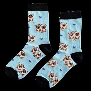 Holland sokken Damessokken -Mopshondjes