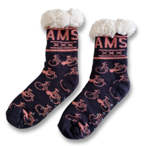 Holland sokken Fleece Comfortsokken - Fietsen - Blauw -roze