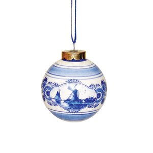 Typisch Hollands Delft Blue Christmas ball