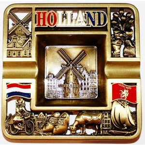 Typisch Hollands Asbak vierkant Holland