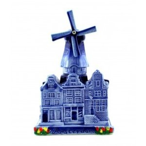 Typisch Hollands City mill Delft Blue