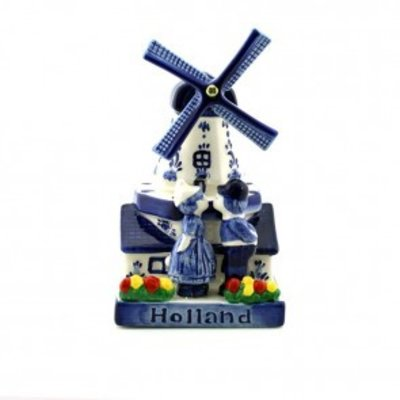 Typisch Hollands Windmill with Kissing Couple