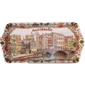 Typisch Hollands Tray Amsterdam polychrome