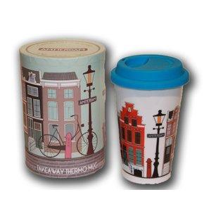 Typisch Hollands Coffee to Go Mok - Gevelhuisjes