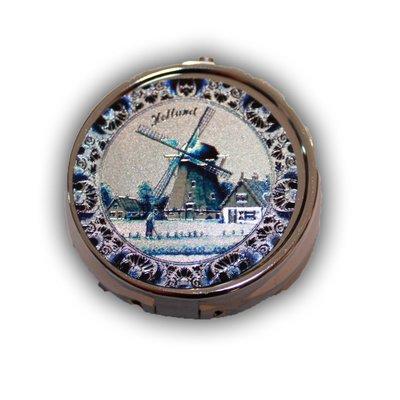 Typisch Hollands Pillendoos Delfts Blauwe Ets