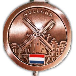 Typisch Hollands Spiegeldoos Holland - Brons uitvoering