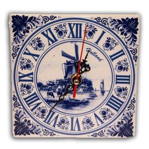 Typisch Hollands Uhr Delft Blue Square