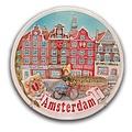 Typisch Hollands Wandbord Amsterdam 14 cm