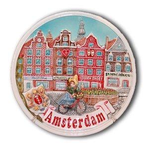 Typisch Hollands Amsterdam Wandbord
