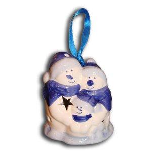 Typisch Hollands Weihnachtsdekoration - Schneemänner