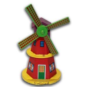 Typisch Hollands Holzmühle am Stiel