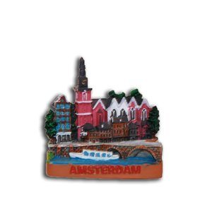 Typisch Hollands Magneet Miniatuur Amsterdam