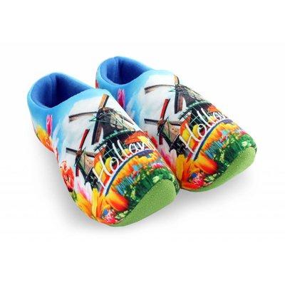 Typisch Hollands Clog slippers Holland MolensTulpen