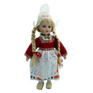 Typisch Hollands Pop in traditionele kleding (rood) 26 cm