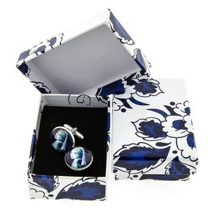 Typisch Hollands Cufflinks Delft Blue (Girl with a Pearl Earring)