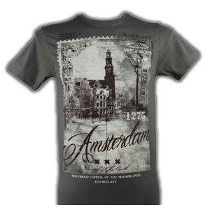 Kemme Textiles T-Shirt Amsterdam - Grijs