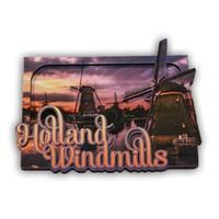 Typisch Hollands Magnet Windmühlen