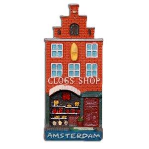 Typisch Hollands Magneet Gevelhuisje Klompenwinkel