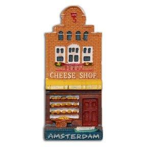 Typisch Hollands Magneet Gevelhuisje Cheese Shop