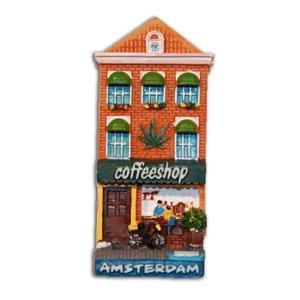Typisch Hollands Magneet Gevelhuisje Coffeeshop