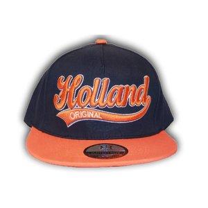Robin Ruth Fashion Blue Holland cap with orange peak