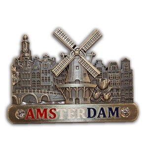 Typisch Hollands Magneet (metaal) Amsterdam Holland