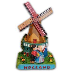 Typisch Hollands Mühle mit Kuss Paar Holland